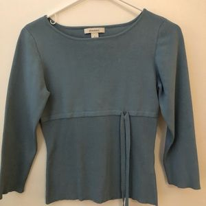 Lt blue knit top